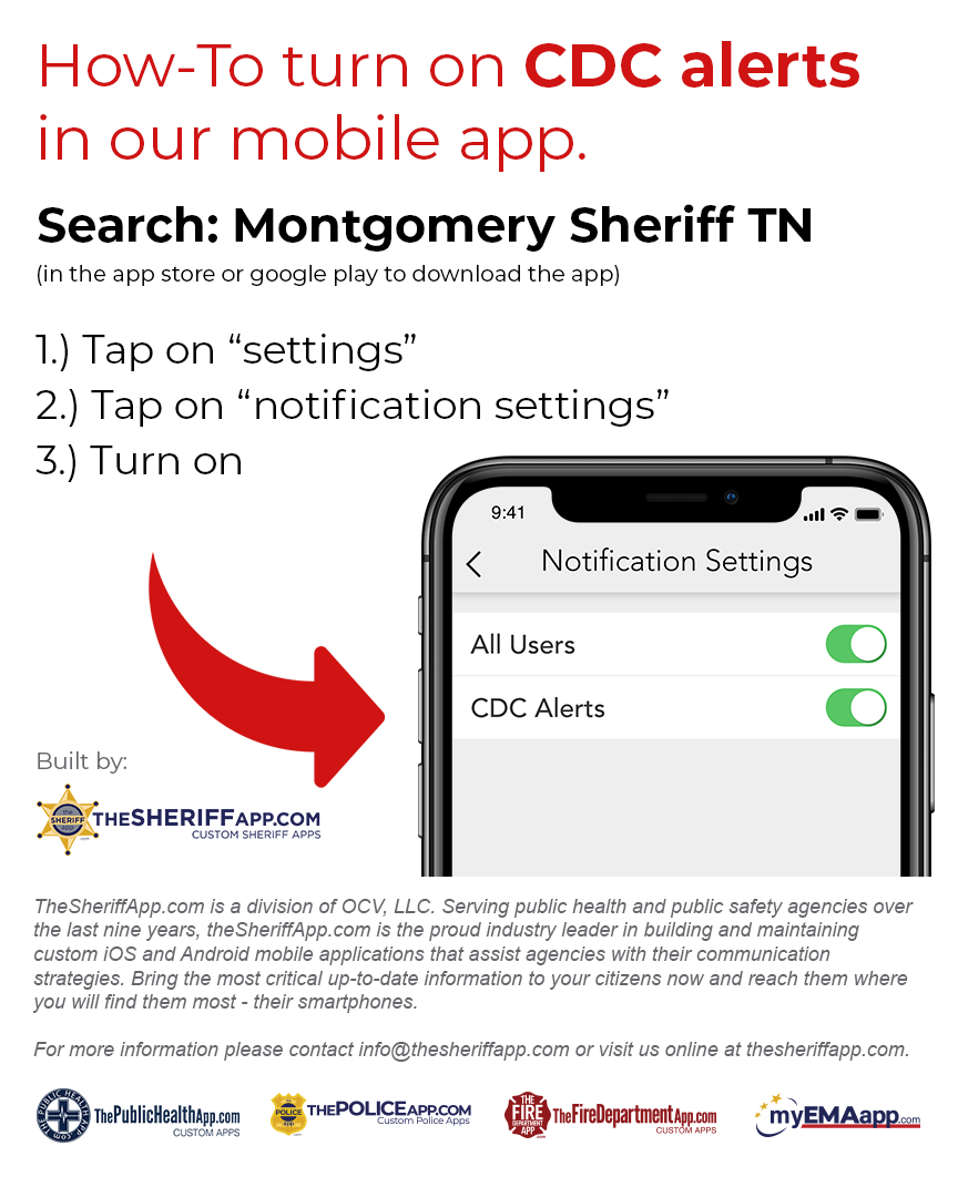 How to Turn on CDC Alerts Image